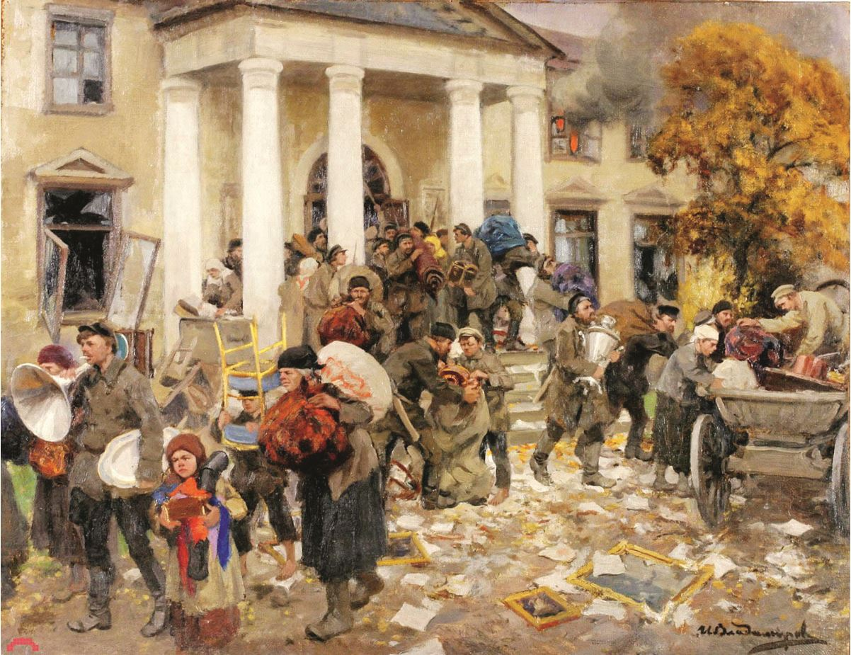 Иван Владимиров - Разгром помещичьей усадьбы, 1926