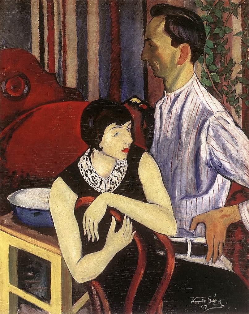 Геза Вёрёш (Geza Vörös) - Художник и его модель, 1927