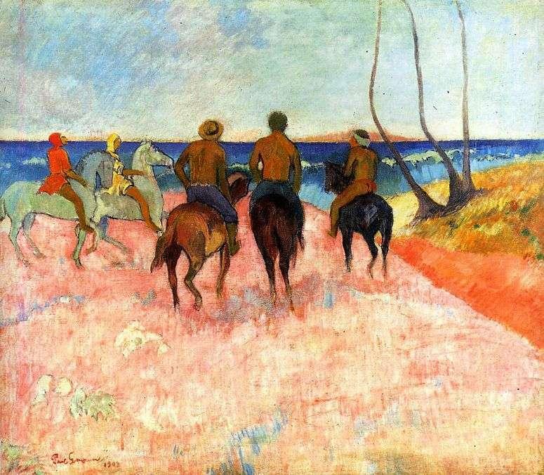 Поль Гоген - Всадники на берегу