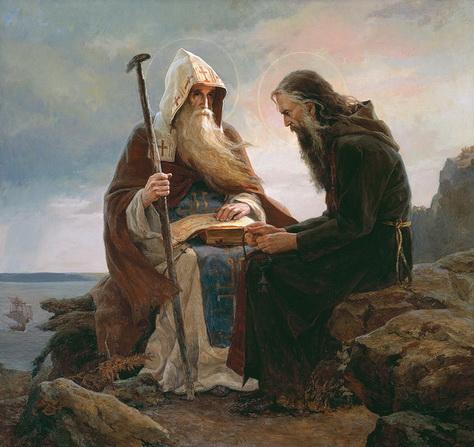 Сайда Афонина Антоний и Феодосий Киево-Печерские