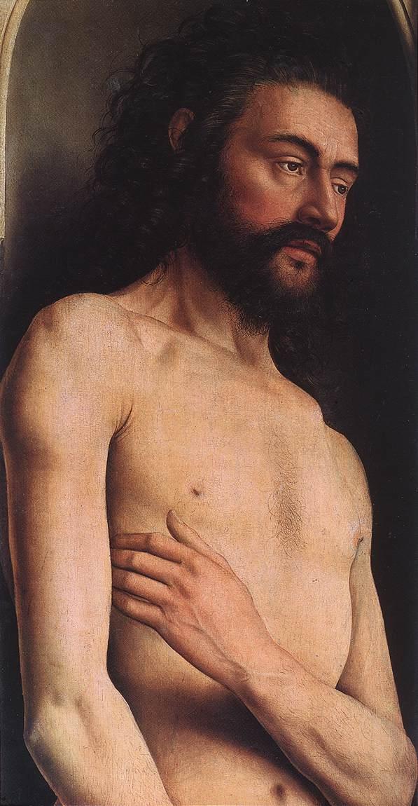Братья ван Эйк «Адам». Гентский алтарь. Фрагмент.  1432