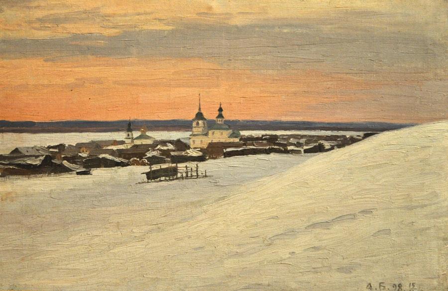 Александр Борисов. Усть-Цильма на Печоре, 1898