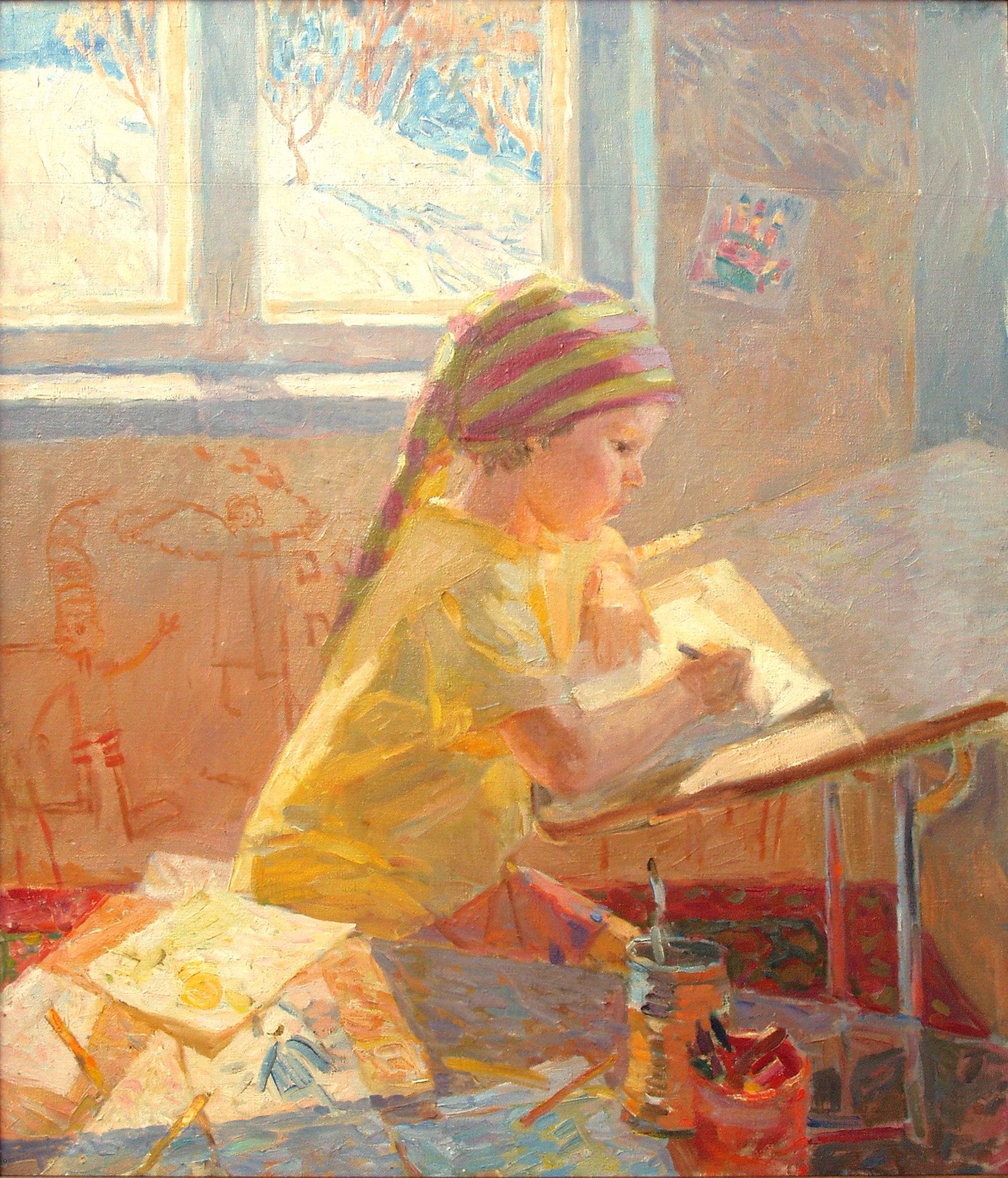 Мария Пономарева Женя рисует