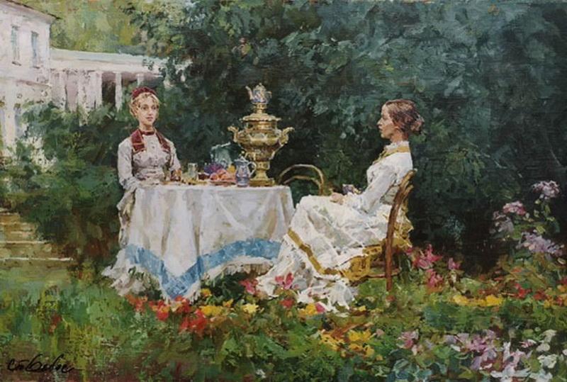 Станислав Бабюк Чай в летнем саду