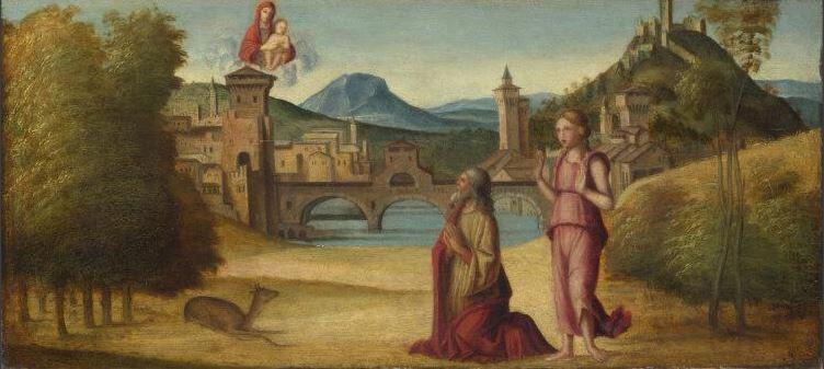 Художник венецианской школы - Император Август и Сивилла