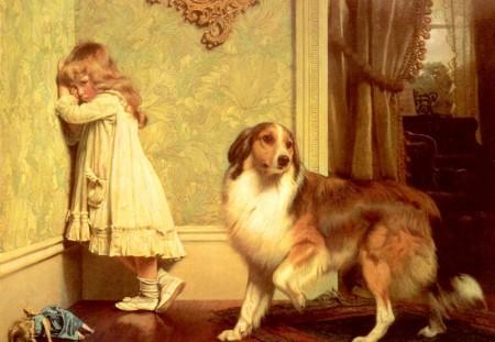 Картина английского художника чарльза Барбера  Charles Burton Barber Обиделась