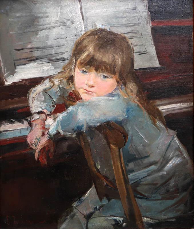 chica al piano 1884 pintado por francesc torrescassana