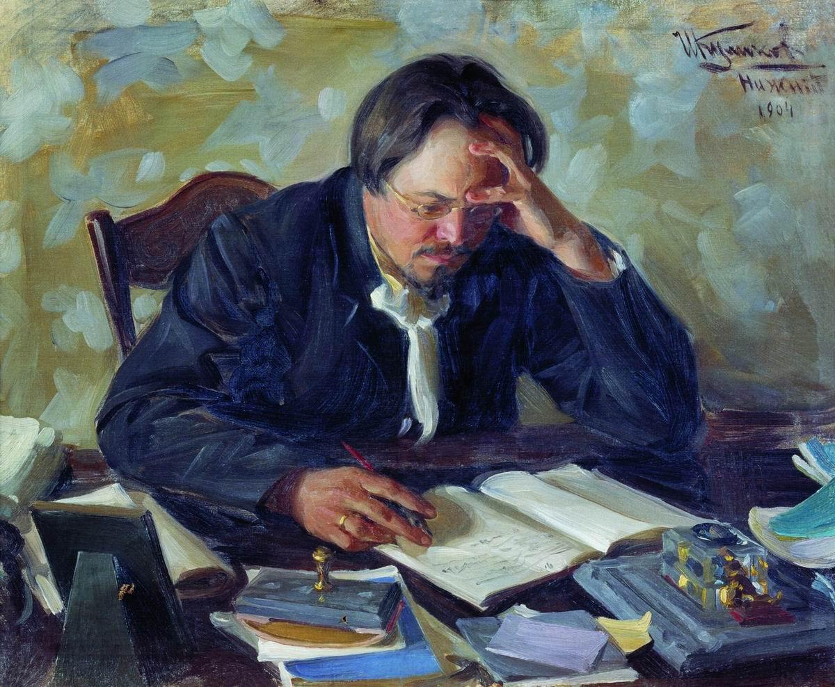 Иван Куликов. Портрет литератора Е.Н. Чирикова