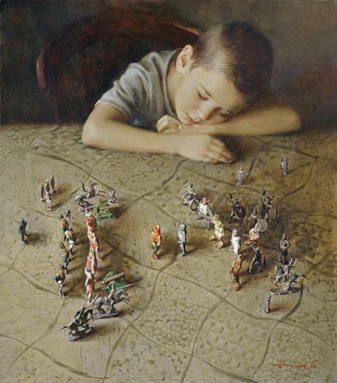 Картина современной российской художницы Татьяны Чувашевой Вот смерклось