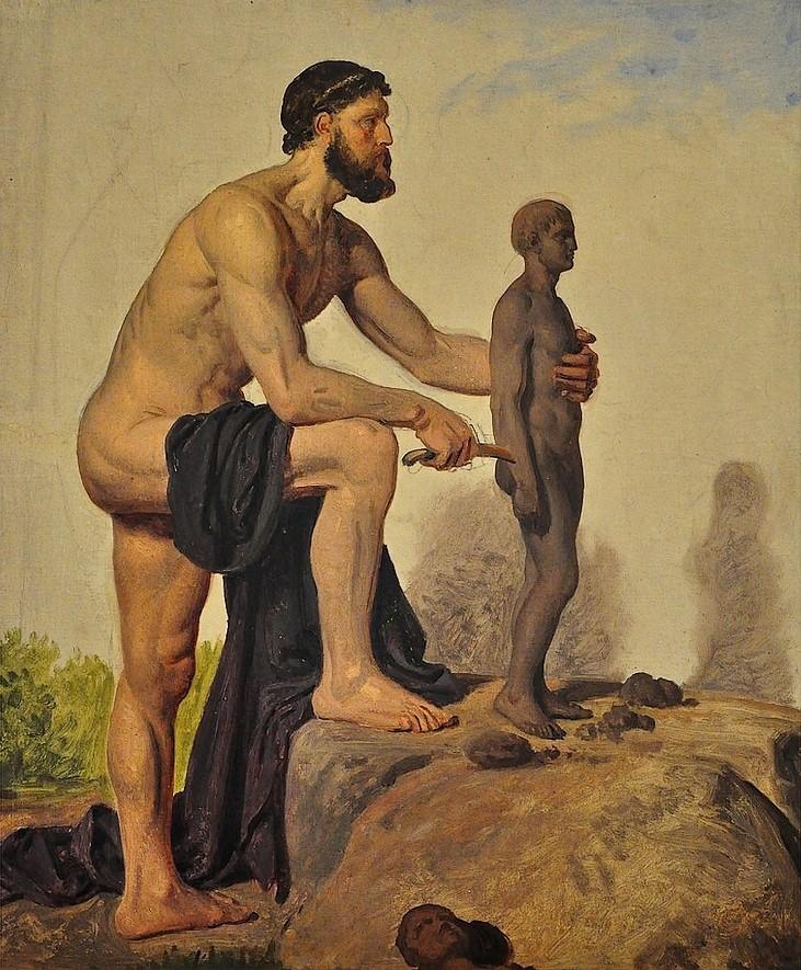 Константин Хансен. Прометей, создающий человека