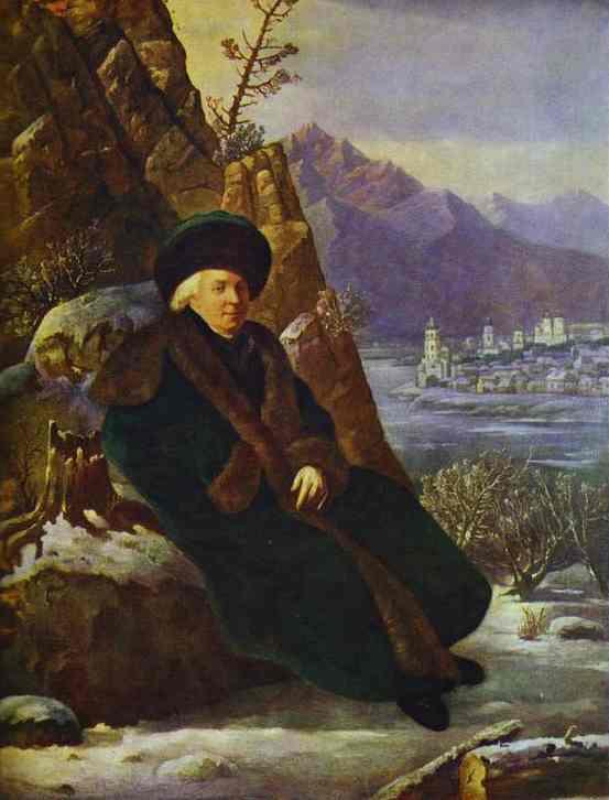 Сальватор Тончи. Портрет поэта Гавриила Державина.