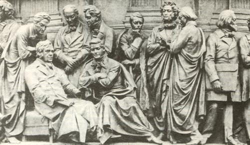 Г.Р. Державин на памятнике Тысячелетие России