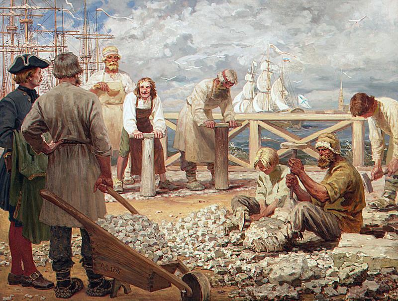 Сергей Ефошкин. На набережной Невы XVIII век, 1996