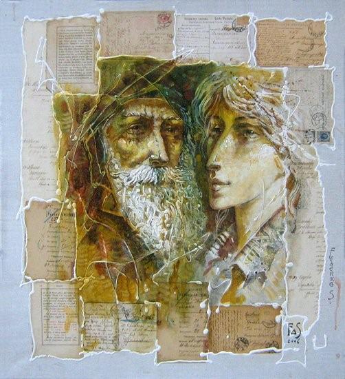 Картина современного художника Сергея Феденко Время