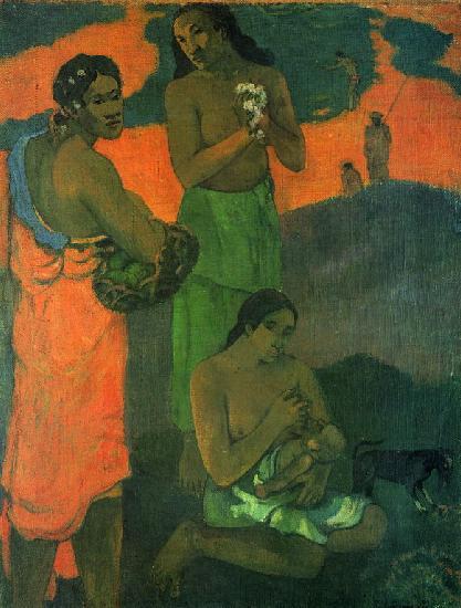 Поль Гоген Женщины на берегу моря Материнство