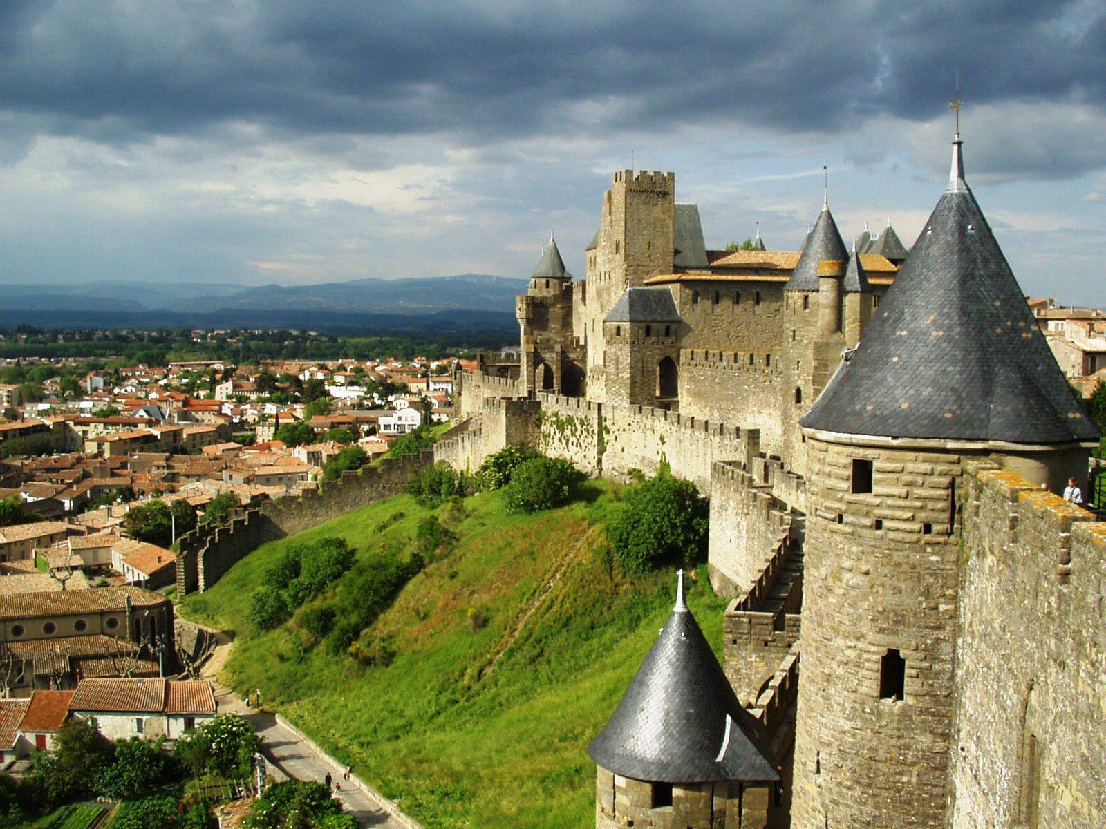 городская стена, Каркассон, Франция