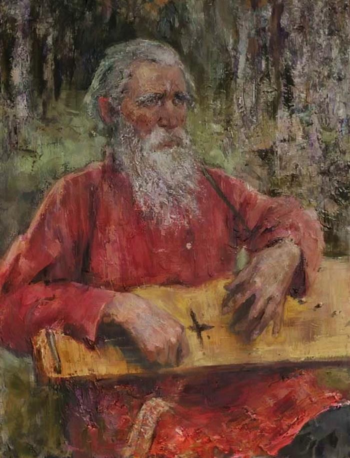 Картина современной российской художницы Анны Виноградовой Гусляр