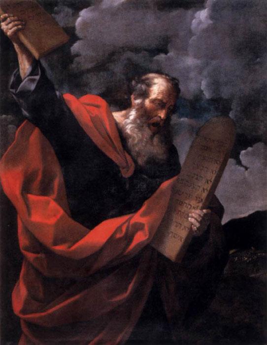 Гвидо Рени. Моисей с заповедями, 1600-1610 гг.