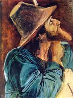 Автопортрет Иванова на картинеЯвление Христа народу