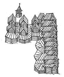Тихвинский посад. Фрагмент плана. ХVII век