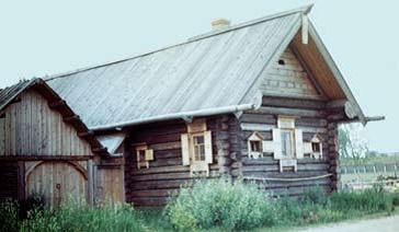 Кон ьк и из б на ц елены на дорогу. Жилые дома ХIХ века. Костромская область