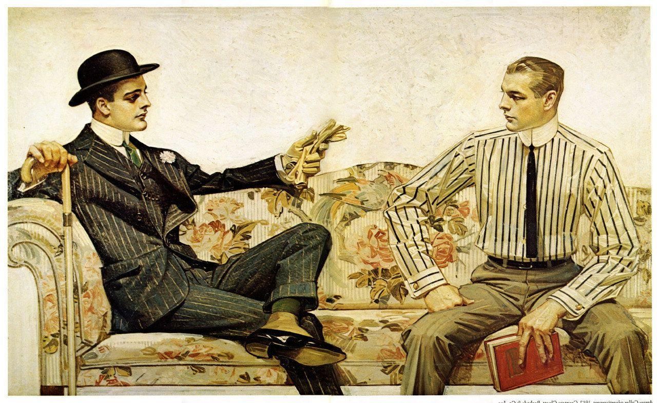 Джозеф Лейендекер. Реклама воротничков Arrow