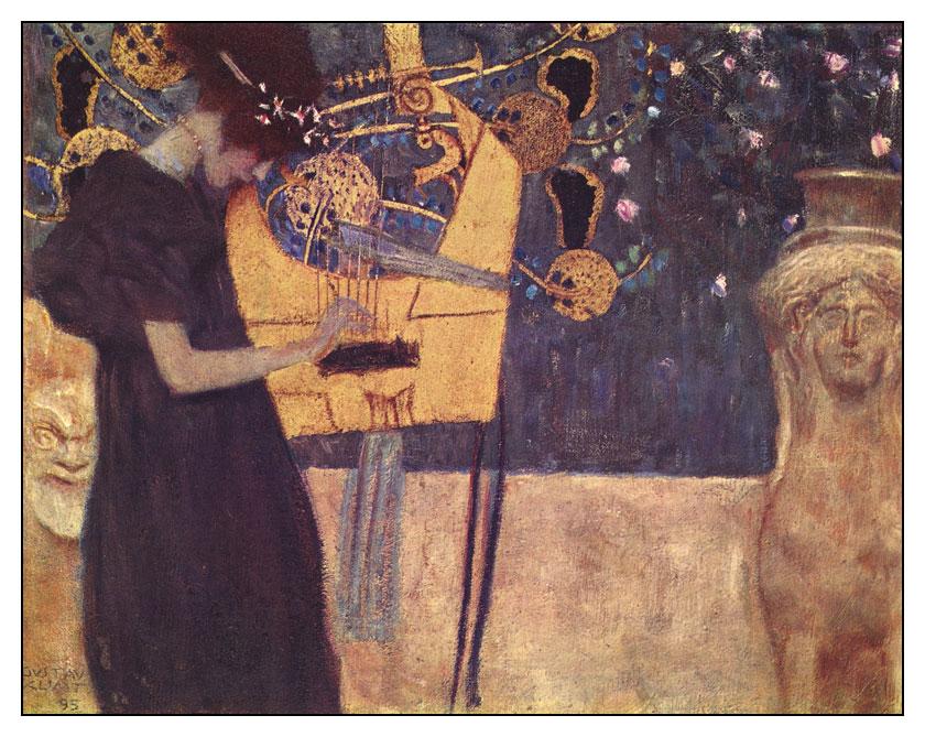 Картина австрийского художника Густава Климта Аллегория музыки