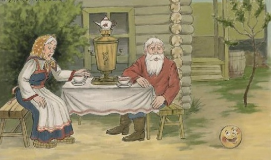 Иллюстрация Татьяны Кочетовой к сказке Колобок