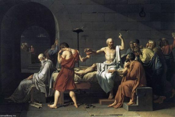Картина Жак-Луи Давида Смерть Сократа