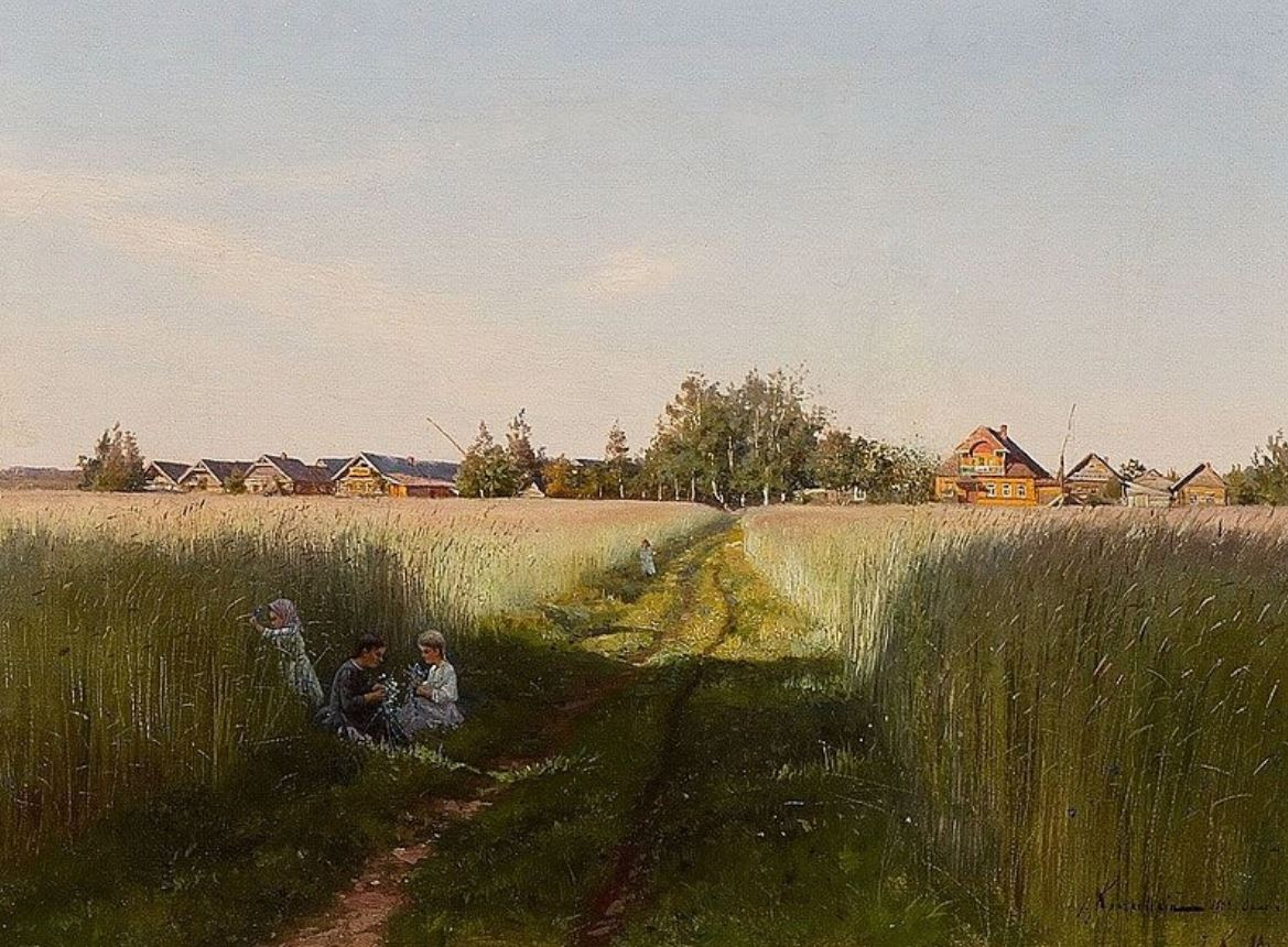 Иосиф Крачковский. Летний день. Деревня Орлино, 1888-1889