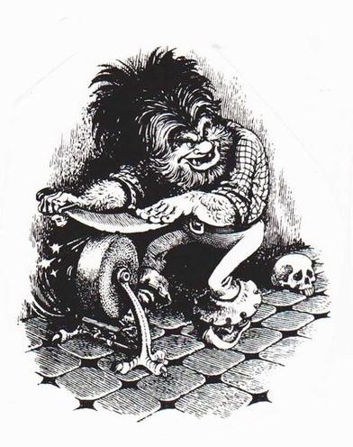 Виктор Бахтин. Людоед (Иллюстрация к «Волшебнику Изумрудного города»)