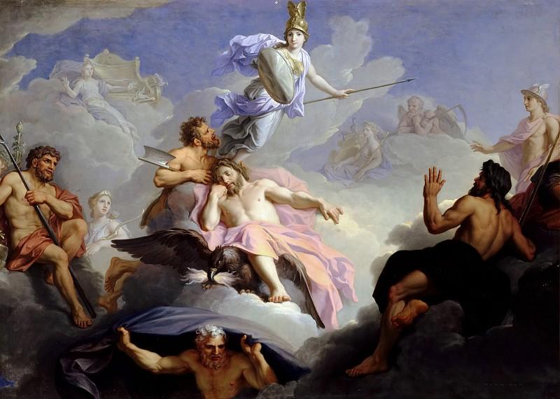 Рене-Антуан Уасс. Рождение Минервы из головы Юпитера