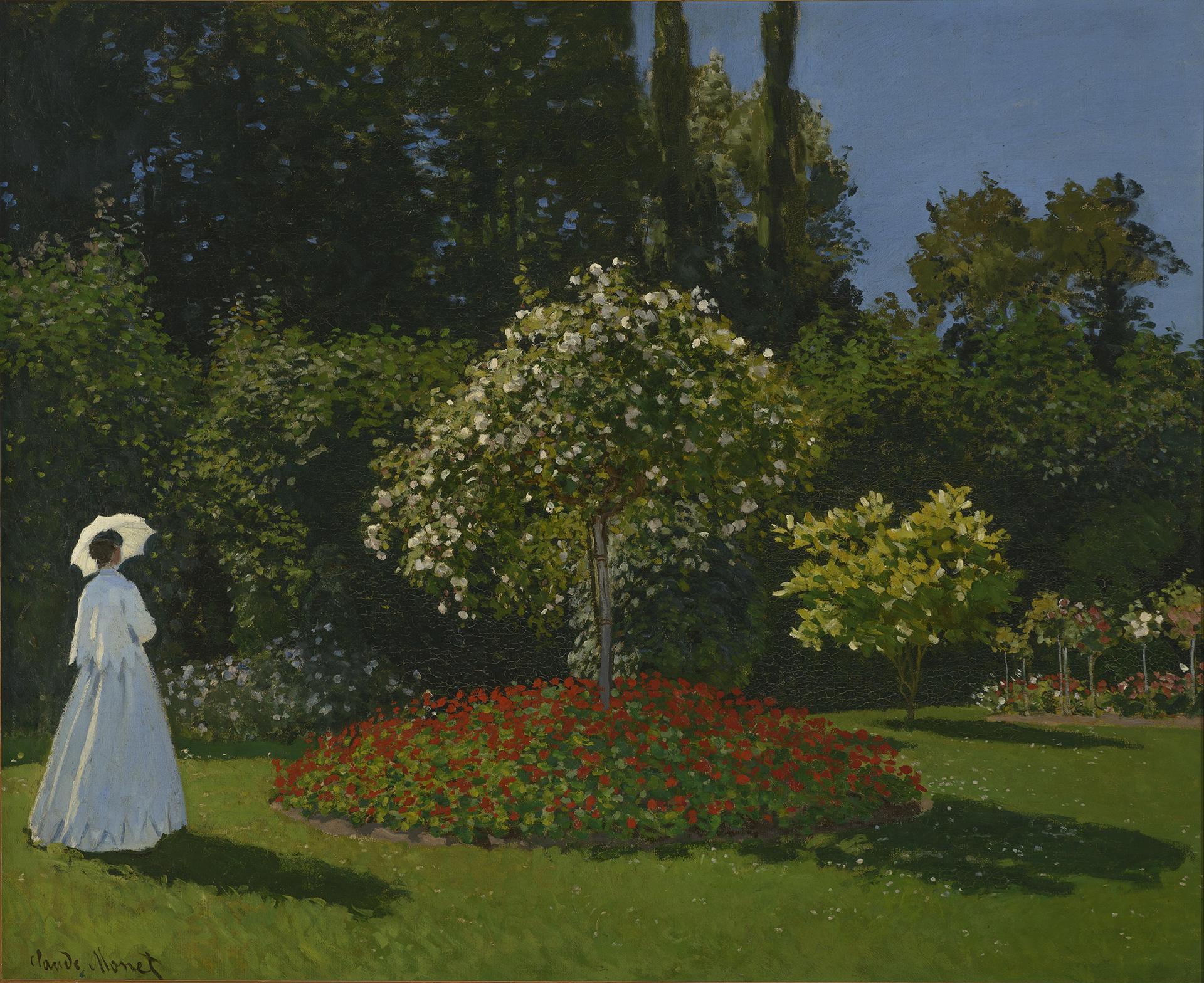 Клод Моне - Дама в саду Сент-Адресс, 1867