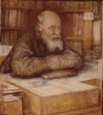 Л. О. Пастернак. Н. Ф. Федоров. 1919.