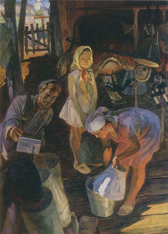 Алексей Моторин. На ферме, 1979