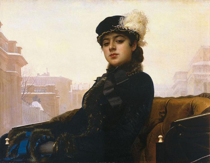 Картина художника Ивана Крамского Портрет неизвестной