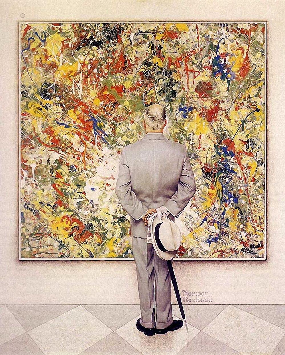 Картина американского художника Norman Rockwell Знаток