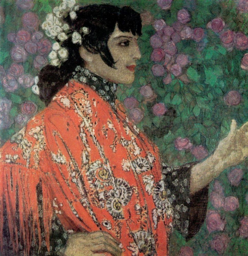 А. Головин - Испанка в красном, 1906-1907