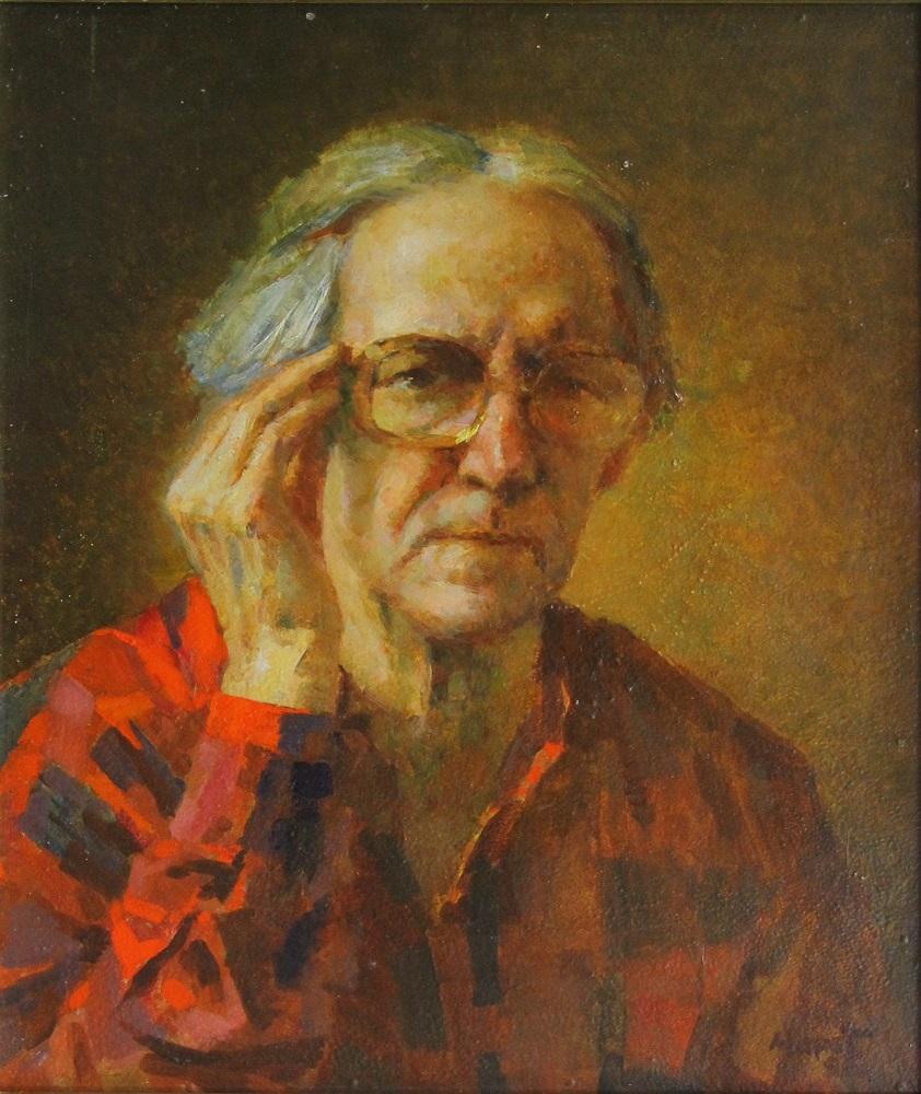 М.С. Шанин - Автопортрет, 1966