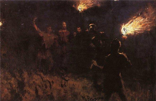 Илья Ефимович Репин – Взятие Христа стражею. 1886