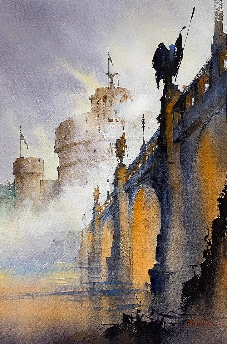 Томас У. Шаллер  Туман над Тибром, Рим