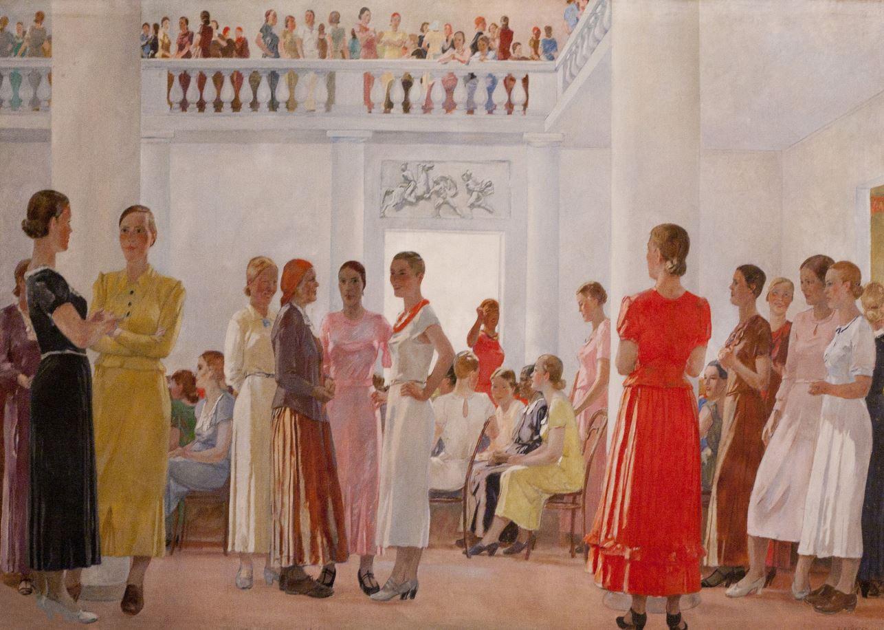 Александр Дейнека. На женском собрании. 1937