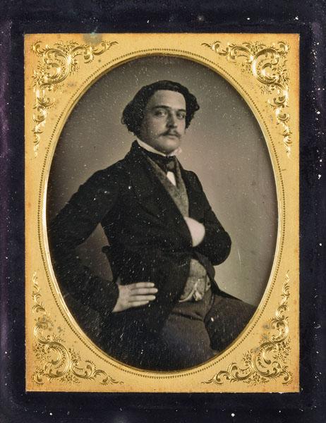 Портрет неизвестного. Неизвестный фотограф. Первая половина 1850-х. Дагеротип