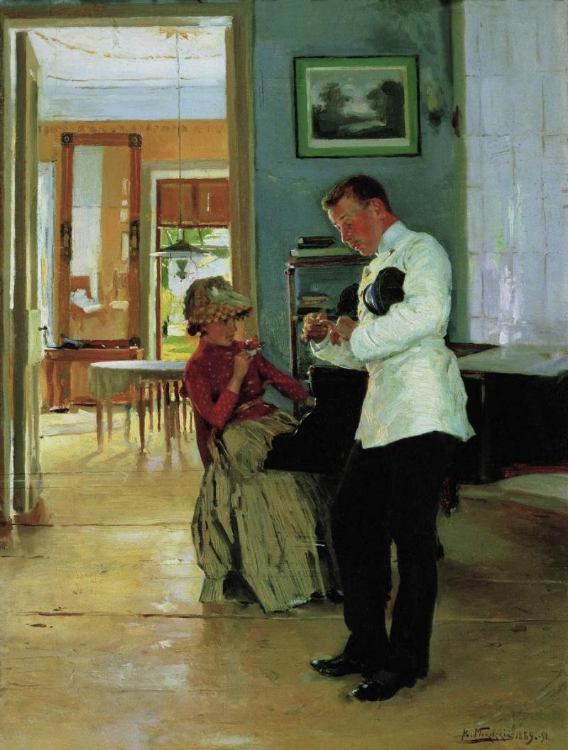 Владимир Маковский Объяснение 1889-1891