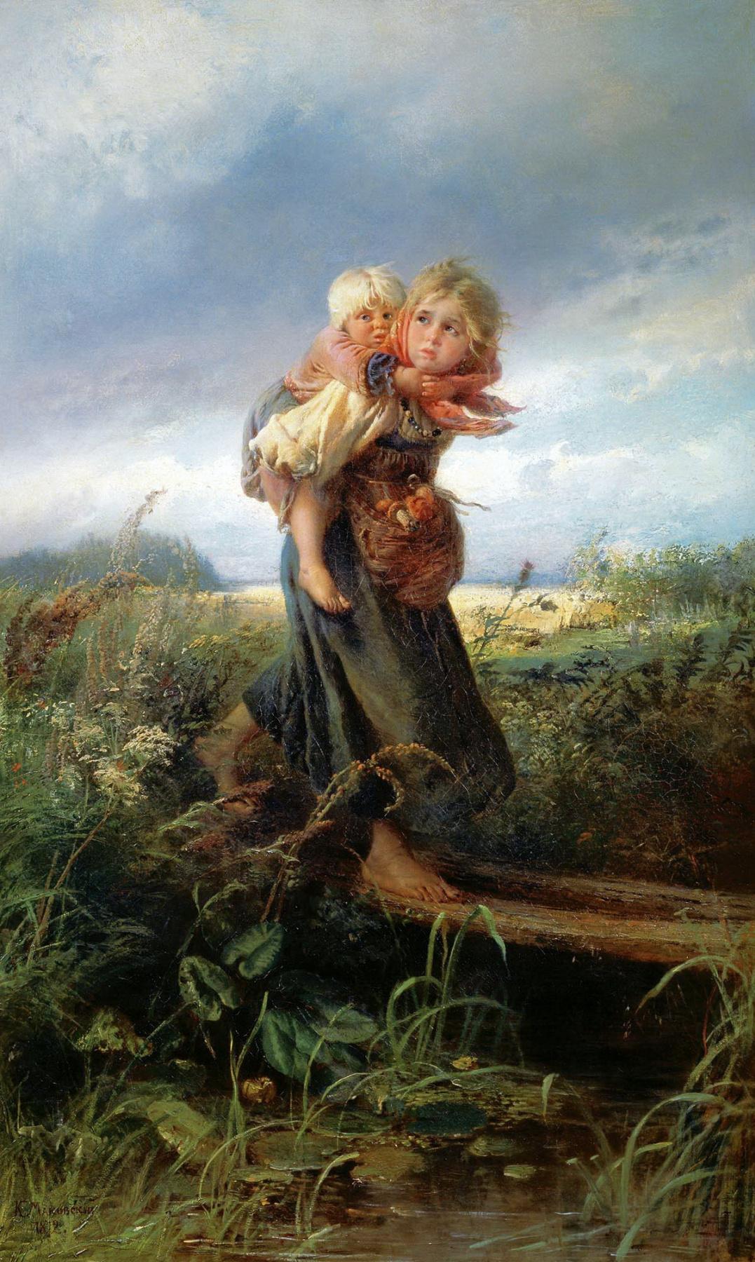 Константин Маковский Дети, бегущие от грозы