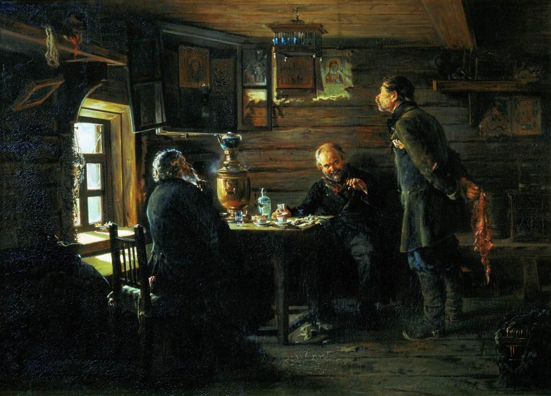 Владимир Маковский. Любители соловьёв, 1873