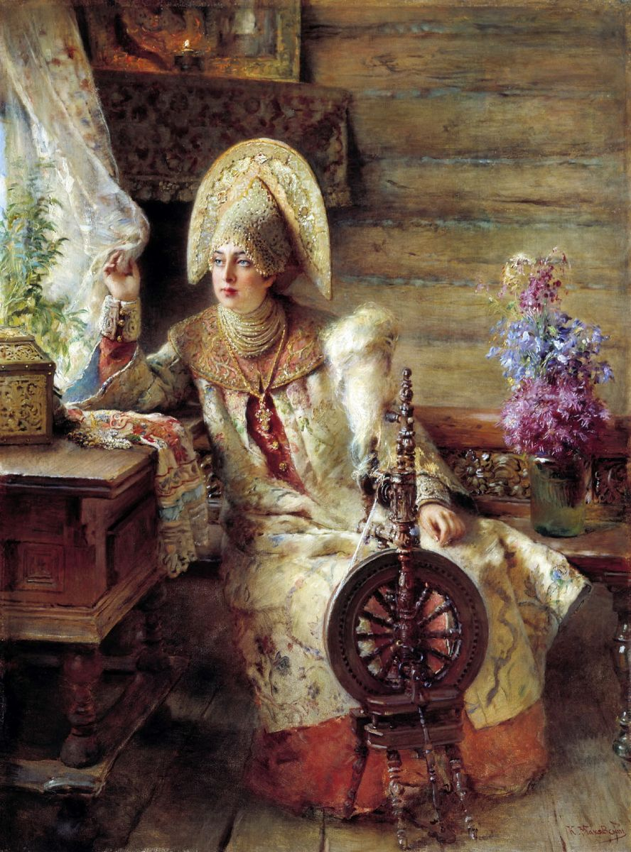 Константин Маковский Боярышня у окна