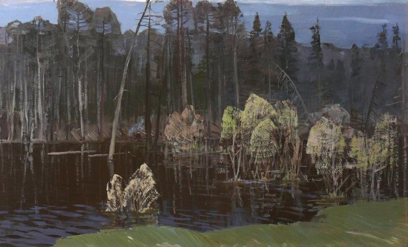 Яков Панов. Затопленный лес. 1978