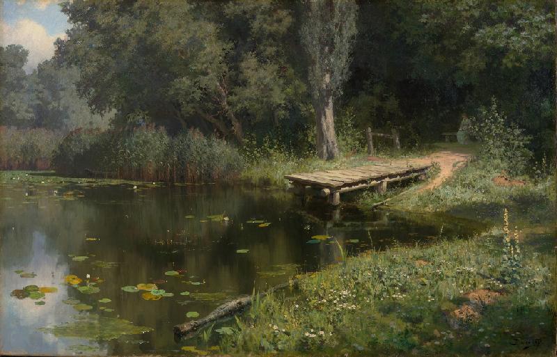 Василий Поленов «Заросший пруд» 1879