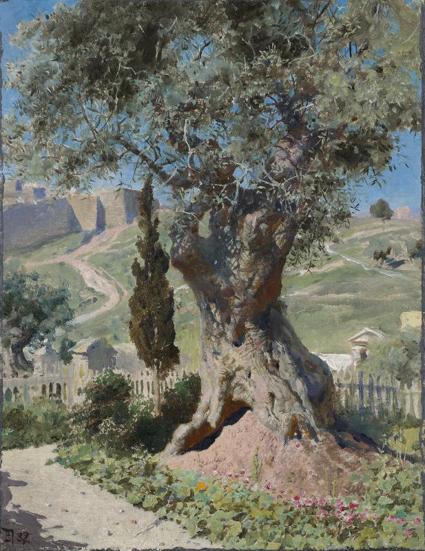 Василий Поленов «Олива в Гефсиманском саду» 1882